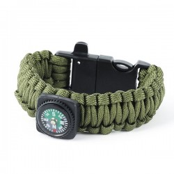 SL1- Bangle parachute cord with a whistle, flint and a compass.