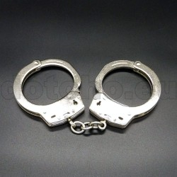 H01 Handcuffs stainless steel, single chain